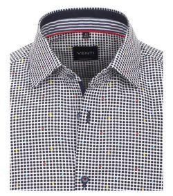 193218000-100 venti overhemd print bolletjes en kleuren
