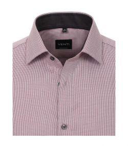 193295500-402 venti licht roze rood overhemd strijkvrij non iron kent kraag katoen