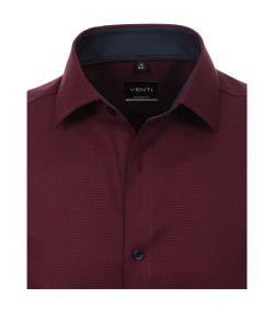 193295500-403 venti bordeaux overhemd strijkvrij dobby kent kraag
