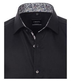 193318300-800 venti zwart overhemd strijkvrij