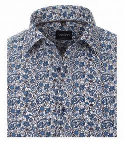 193318400-100 venti paisley print blauw overhemd