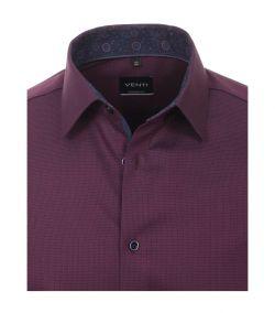 193318500-401 venti paars aubergine kleurig overhemd oxford strijkvrij