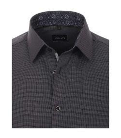 193318500-800 venti zwart oxford strijkvrij overhemd