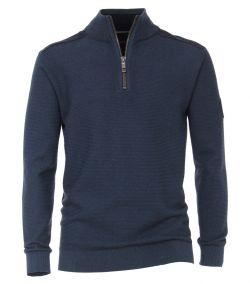 Casa Moda blauw mock zip