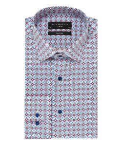 PMOH100016 michaelis overhemd print diamond patroon