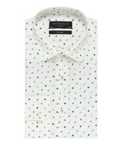 PMOH100051 Michaelis print overhemd strijkvrij