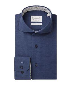 PMRH100022 Michaelis oxford navy overhemd donkerblauw extreme cutaway kraag slim fit