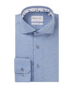 PMRH300007 Michaelis lichtblauw blauw dobby strijkvrij overhemd business zakelijke gelegenheden
