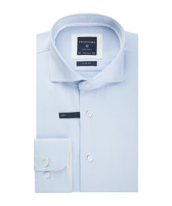 PP0H0A028 Profuomo lichtblauw two-ply overhemd strijkvrij cutaway kraag enkel manchet