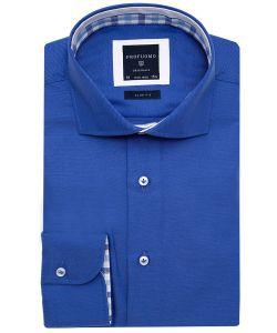 PPMH1A0145 Profuomo overhemd blauw kobaltblauw koningsblauw oxford katoen cutaway