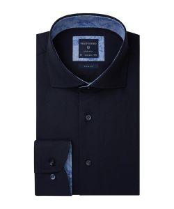 PPRH1A0003 Profuomo overhemd twill stof strijkvrij cutaway kraag