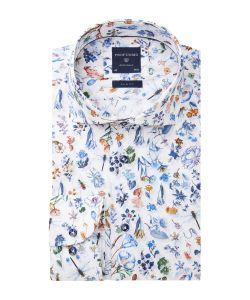 PPRH1A0033 Profuomo insecten en bloemen print overhemd leggiuno Italiaanse kwaliteit