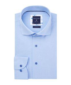 PPRH1A1046 Profuomo lichtblauw linnen katoen blauw cutawau kraag blauwe knopen