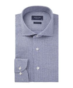 Profuomo blauw houndstooth knitted