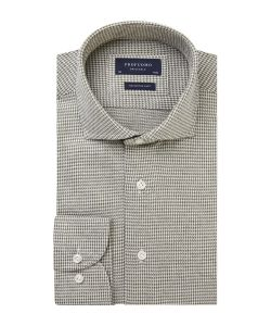 Profuomo army houndstooth knitted