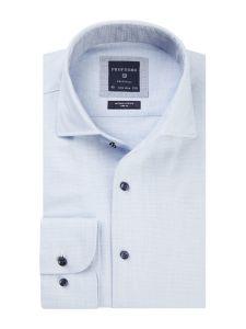 PPRH3A1007 Profuomo lichtblauw dobby overhemd one piece collar kraag strijkvrij