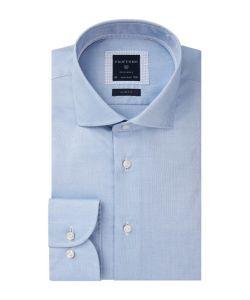PPRH4A0005 Profuomo lichtblauw overhemd oxford dobby structuur zakelijk look business style shirt herenoverhemd