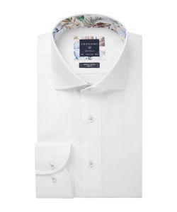 PPSH1A1003 Profuomo wit oxford dobby structuur strijkvrij overhemd