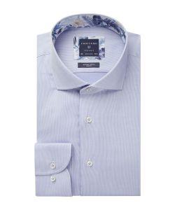 PPSH1A1004 Profuomo lichtblauw oxford dobby strijkvrij overhemd 100% katoen