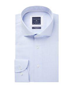 PPSH1A1014 Profuomo lichtblauw twill overhemd strijkvrij 100% katoen met stretch