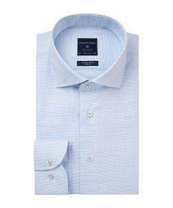 PPSH1A1020 Profuomo lichtblauw dobby structuur strijkvrij overhemd