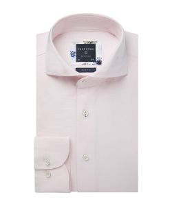 PPSH1A1047 Profuomo licht roze overhemd 100% katoen strijkvrij oxford dobby structuur