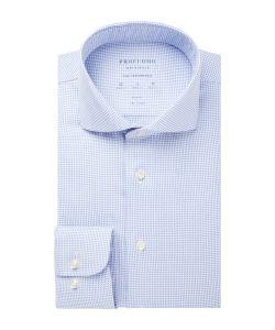 PPSH1A1050 Profuomo High Performance lichtblauw oxford dobby overhemd luxe strijkvrije overhemden