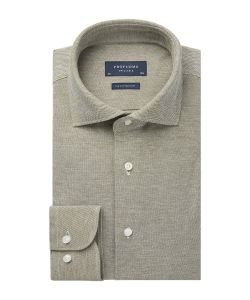 PPSH1A1062 Profuomo legergroen knitted overhemd shirt groen army