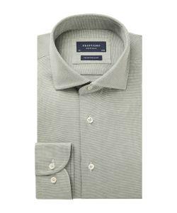 PPSH1A1066 Profuomo trendy groen knitted overhemd met subtiel patroon
