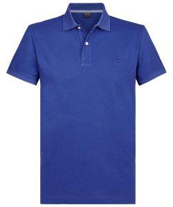 PPSJ1A0015 Profuomo koningsblauw korte mouw polo royal blauw 100% katoen luxe