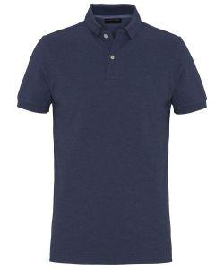 PPSJ1A0060 Profuomo indigo jeans blauw polo 100% katoen korte mouwen