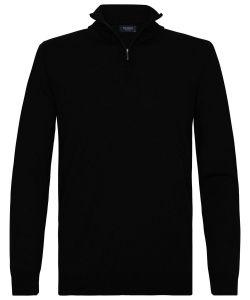 Profuomo half zip zwart